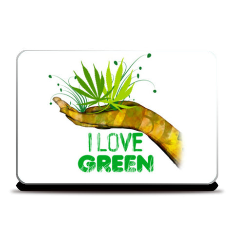 Laptop Skins, I Love Green Laptop Skins | Artist : Archana Aravind, - PosterGully