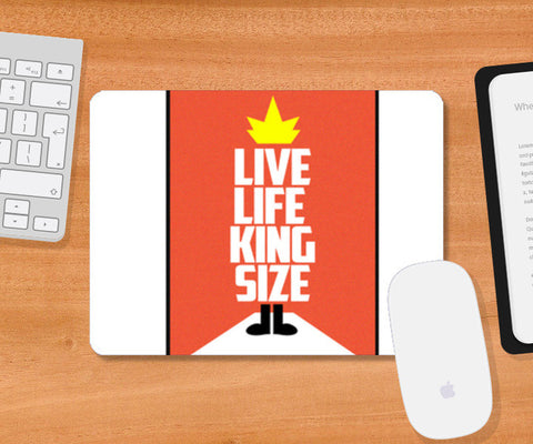 Mousepad, Live Life King Size Mousepad Mousepad | Artist : Nilay Paul Artworks, - PosterGully
