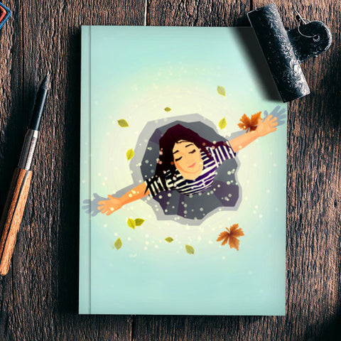 snow and me Notebook | Artist : abhijeet sinha