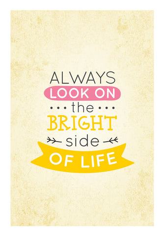 Always Look On The Bright Side Of Life Wall Art | Artist : Inderpreet Singh