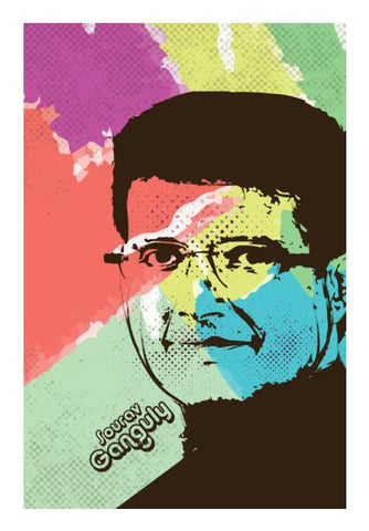 PosterGully Specials, Sourav Ganguly Wall Art | Artist : Designerchennai, - PosterGully