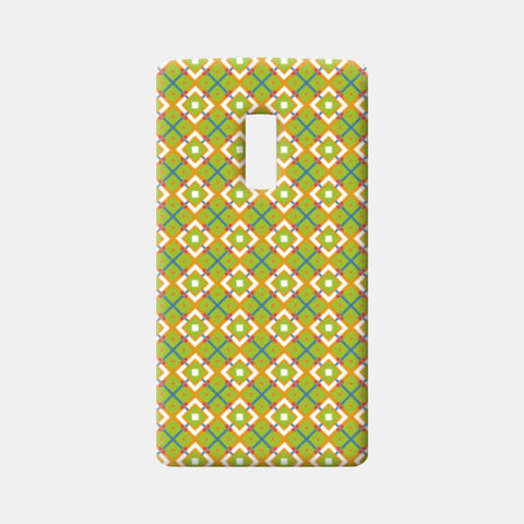 Green Geometric Diamond Pattern  One Plus Two Cases | Artist : Seema Hooda