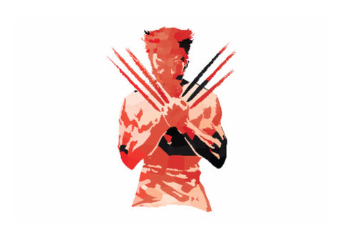 Wall Art, Low Poly Wolverine 2-Colored Wall Art | Artist: Darshan Gajara, - PosterGully