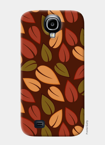 Seamless colored autumn leaves pattern Samsung S4 Cases | Artist : Designerchennai