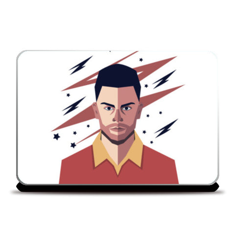 Virat Kohli abstract geometric  Laptop Skins | Artist : mohit lakhmani