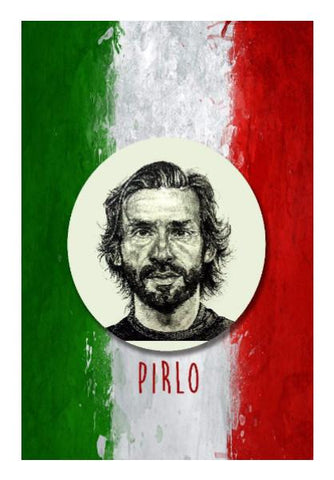 PosterGully Specials, Andrea Pirlo Wall Art | Artist: Pushkar Priyadarshi | PosterGully Specials, - PosterGully