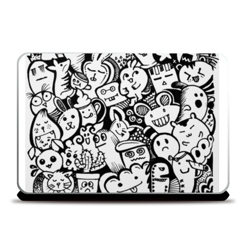cute fun laptop cover Laptop Skins | Artist : Sakshi Jain