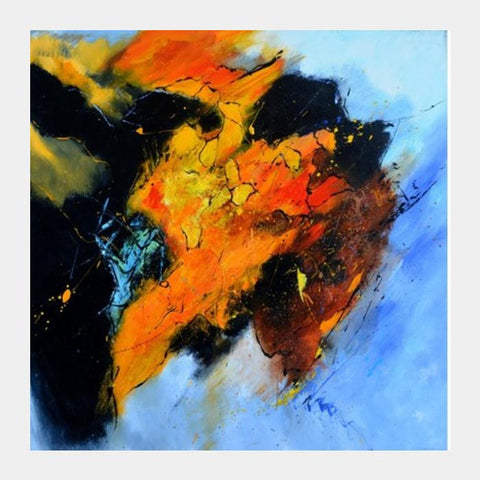 PosterGully Specials, abstract buffalo Square Art Prints | Artist : pol ledent, - PosterGully