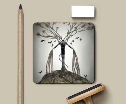 Abstract Art (The Tree of Lust) Coasters | Artist : kapil Verma