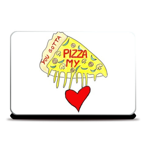 Pizza Love Laptop Skins | Artist : Ajooni Singh