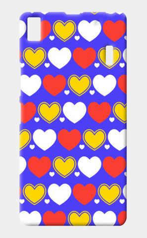 Hearts seamless multicolor pattern Lenovo K3 Note Cases | Artist : Designerchennai