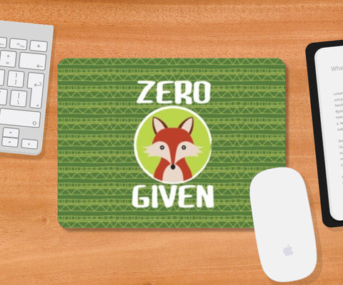 Mousepad, Zero Fox Given Mousepad | Artist : Random Chinese Friend, - PosterGully