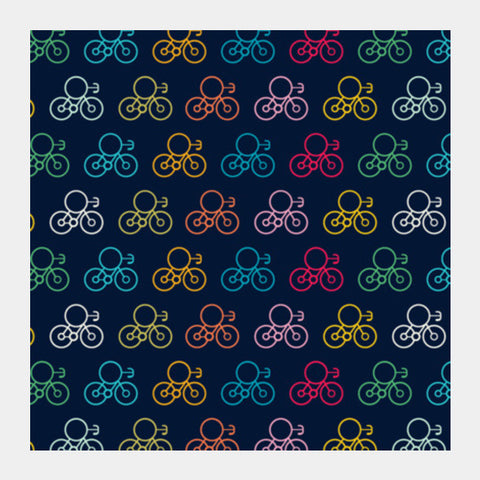 Bicycle Wheels With Colored Square Art Prints PosterGully Specials