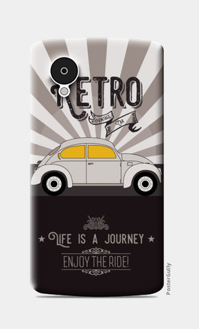 Retro vintage car on gray Nexus 5 Cases | Artist : Designerchennai