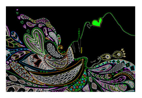 Gypsy In Neon Art PosterGully Specials