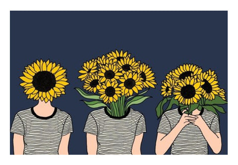 Sunflower Humans Wall Art  | Artist : Priyanka Paul