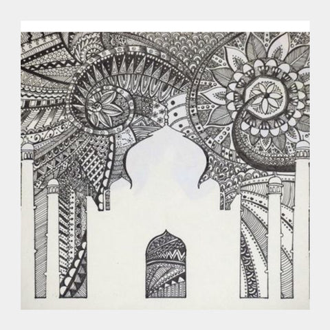 Square Art Prints, Taj Mahal Square Art Prints | Artist : Kriti Pahuja, - PosterGully