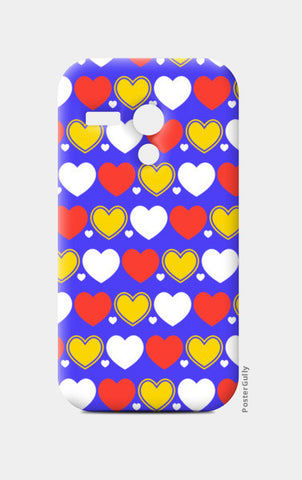 Hearts seamless multicolor pattern Moto G Cases | Artist : Designerchennai