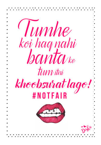 #NOTFAIR Wall Art | Artist : DISHA BHANOT