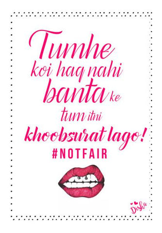 PosterGully Specials, #NOTFAIR Wall Art | Artist : DISHA BHANOT, - PosterGully