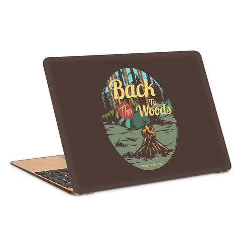 CampFire In The Woods Vintage Artwork Laptop Skin