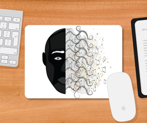 Abstract face pad Mousepad | Artist : vazir singh