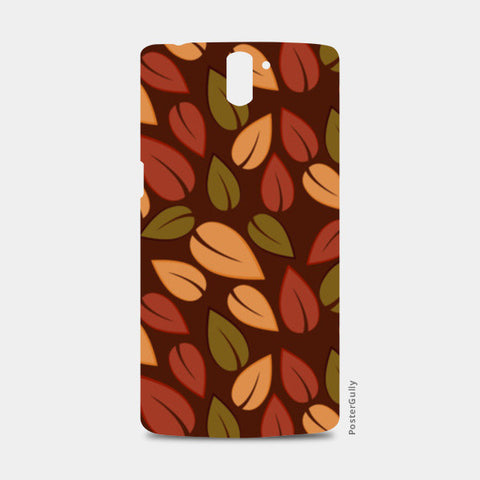 Seamless colored autumn leaves pattern One Plus One Cases | Artist : Designerchennai