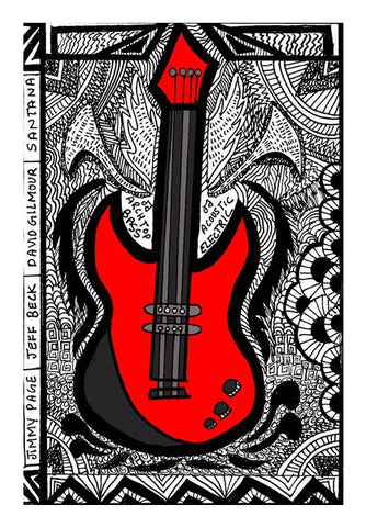 Wall Art, RED GUITAR Wall Art | Aishwarya Menon, - PosterGully