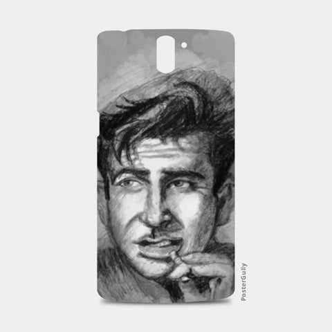 Raj Kapoor- charcoal sketch One Plus One Cases | Artist : Raman Bhardwaj
