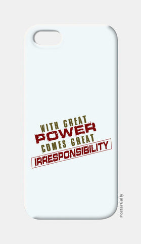 With Great Power Comes? iPhone 5 Cases | Artist : Kaushal Faujdar