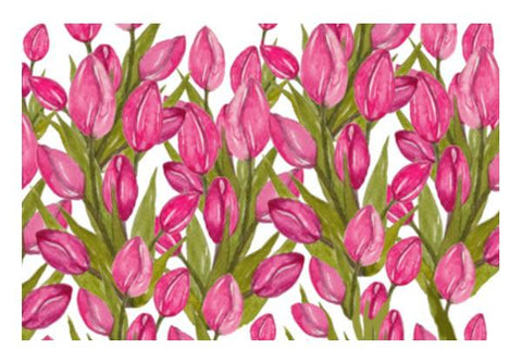 PosterGully Specials, Pink Tulips Flowers Spring Floral Background Wall Art | Artist : Seema Hooda | PosterGully Specials, - PosterGully