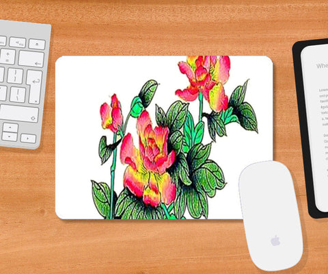Mousepad, Rose Flower Plant Mousepad | Artist : CK GANDHI, - PosterGully