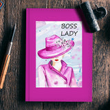 Boss Lady Silhouette Watercolor Fashion Woman  Notebook | Artist : Seema Hooda