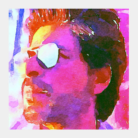 Shahrukh Khan Square Art Prints | Artist : Delusion