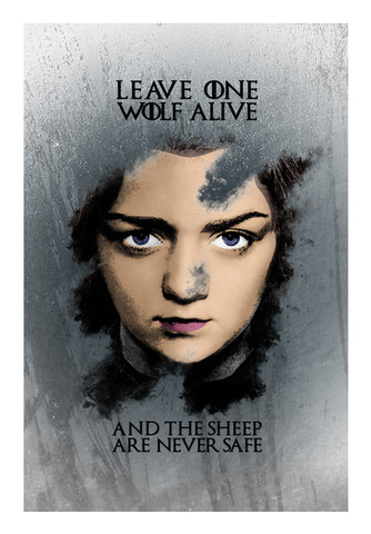 Game of Thrones | Arya Stark 2 | Wall Art | Artist : Vivid Corner