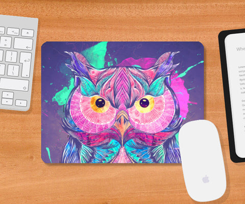 The night owl Mousepad | Artist : Cuboidesign