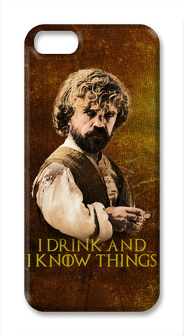 Game of Thrones | Tyrion Lannister | I Drink and I Know Things iPhone SE Cases | Artist : Vivid Corner