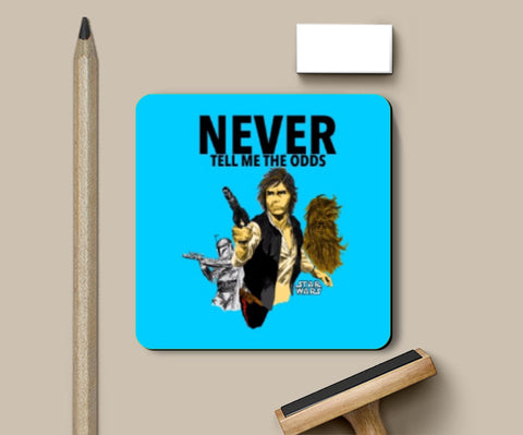 Coasters, Never tell me the odds Han Solo Coaster | Artist: saurabhzuve, - PosterGully