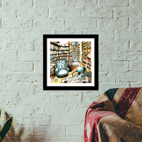Oasis Of Thought Premium Square Italian Wooden Frames | Artist : Sanjay Ghosh