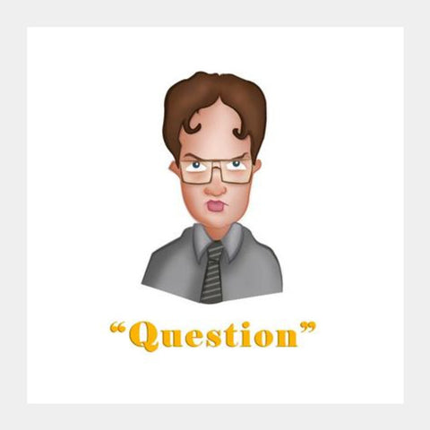 Square Art Prints, Dwight from The Office Square Art Prints | Artist : Ashley Abraham, - PosterGully