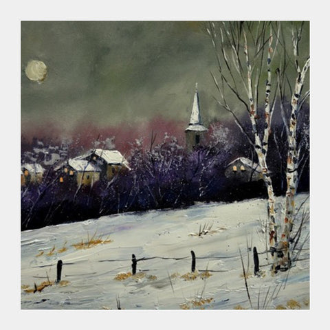 winter landscape 452121 Square Art Prints | Artist : pol ledent