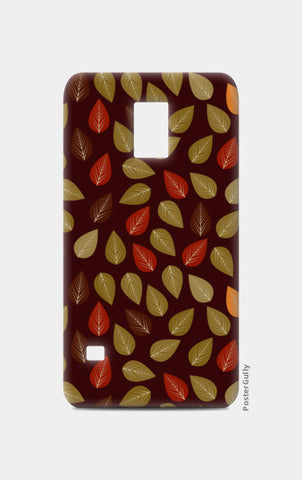 Seamless pattern with multicolored leaf on dark background Samsung S5 Cases | Artist : Designerchennai