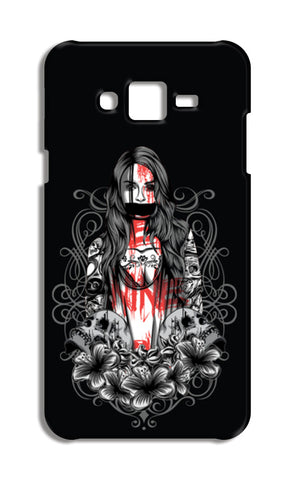 Girl With Tattoo Samsung Galaxy J7 Cases | Artist : Inderpreet Singh