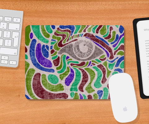 abstract eye colorful vector illustration Mousepad | Artist : Simran Sain