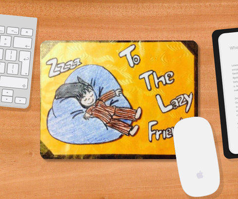 Mousepad, The Lezy Friends Mousepad | Doodleicious, - PosterGully