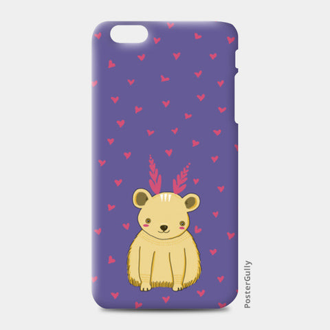 Cute Bear Pattern iPhone 6 Plus/6S Plus Cases | Artist : Prajakta Rao