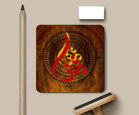 Ohm Red Coasters | Artist : Rupam Shah