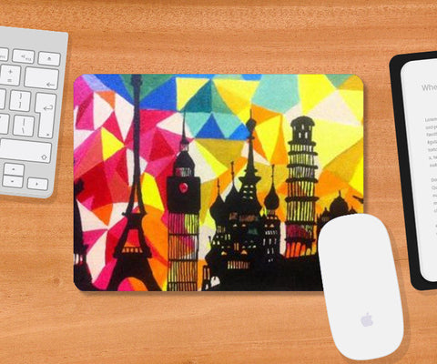 Mousepad, Monuments of World Mousepad | Artist: Meghna Garg, - PosterGully