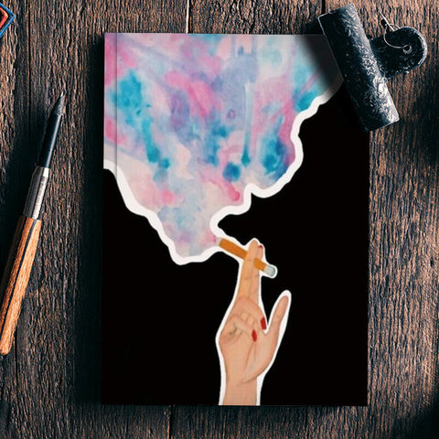 Blowing Smoke Notebook | Artist : Priyanka Paul
