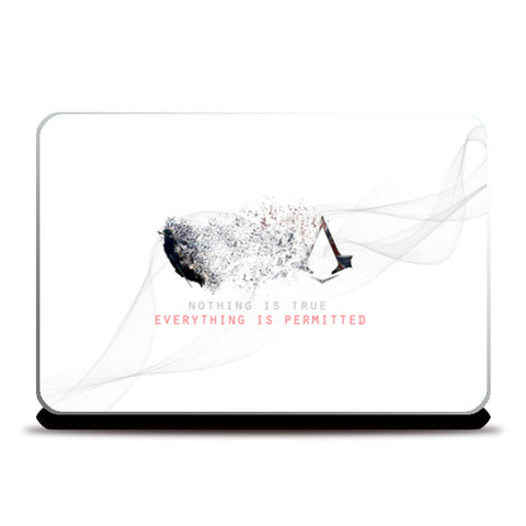 Assassin's creed (white) Laptop Skins | Artist : Aakarsh Sharma